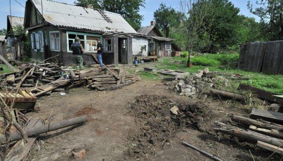 pueblo ruso es atacado por ucranianos