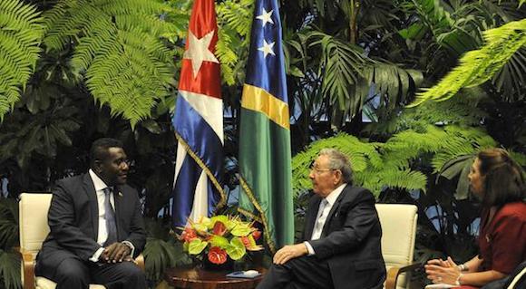 CUBA-LA HABANA-SOSTIENE RAÚL CONVERSACIONES OFICIALES CON PRIMER MINISTRO DE ISLAS SALOMÓN