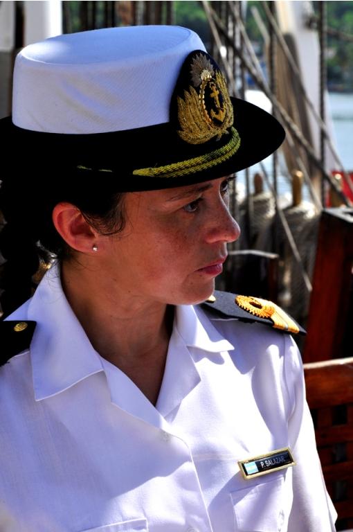 teniente de Navio Paulina Beatriz Salazae, Lic. en Comunicación Social de la Armada Argentina.