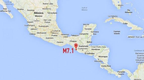 Terremoto de 7,1 se registra en México y Guatemala