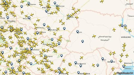 Después del incidente, el espació aéreo ucraniano se despejó.