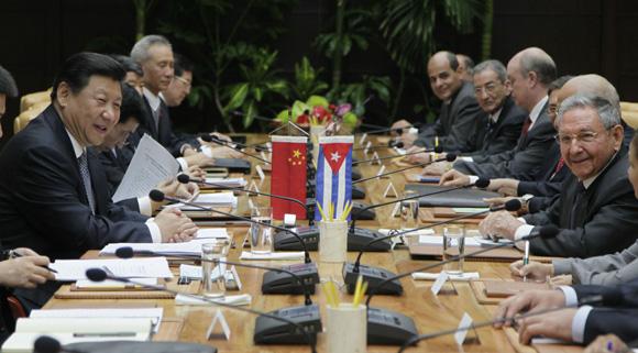 Conversaciones oficiales entre Cuba y China. Foto: Ismael Francisco/ Cubadebate