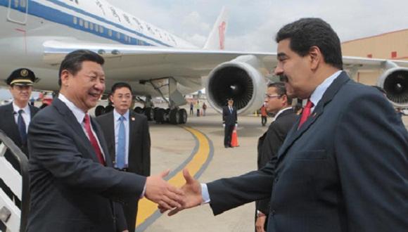 xi jinping llega a Venezuela
