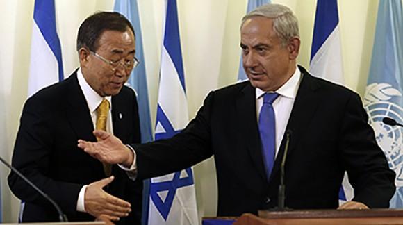 Ban Ki-moon y Netanyahu.