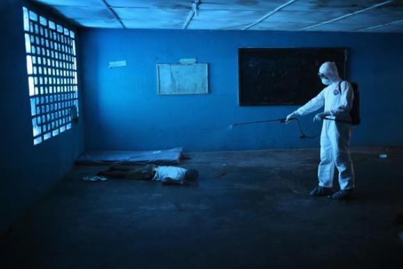 Centro de aislamiento del ébola en Liberia. 1