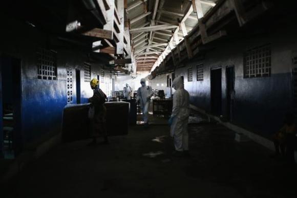 Centro de aislamiento del ébola en Liberia. 3