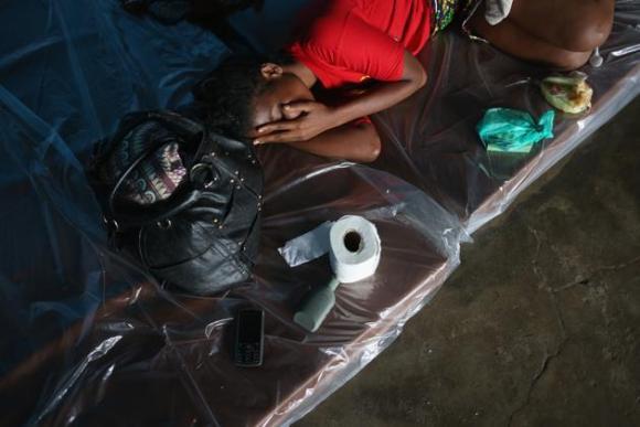 Centro de aislamiento del ébola en Liberia. 4