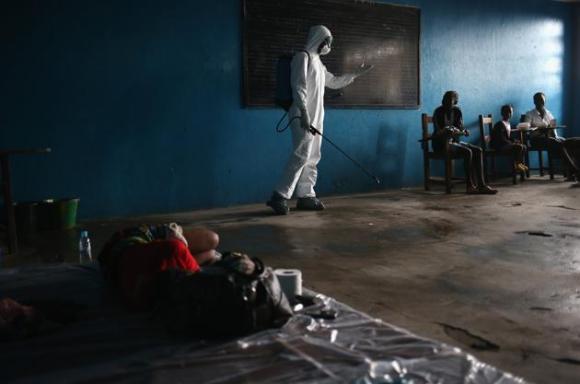 Centro de aislamiento del ébola en Liberia. 5