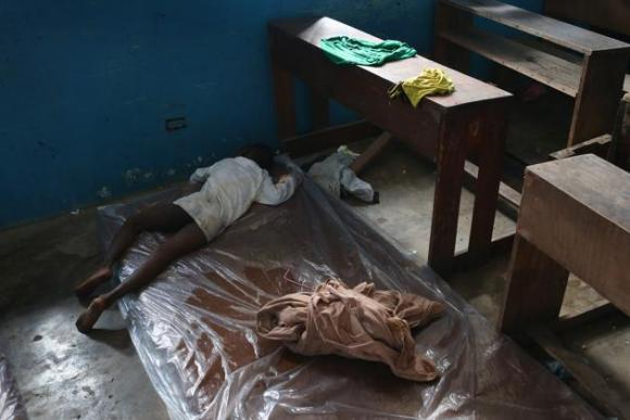 Centro de aislamiento del ébola en Liberia. 6