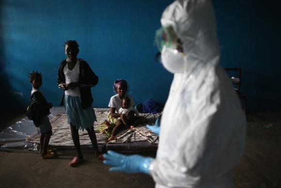 Centro de aislamiento del ébola en Liberia. 7