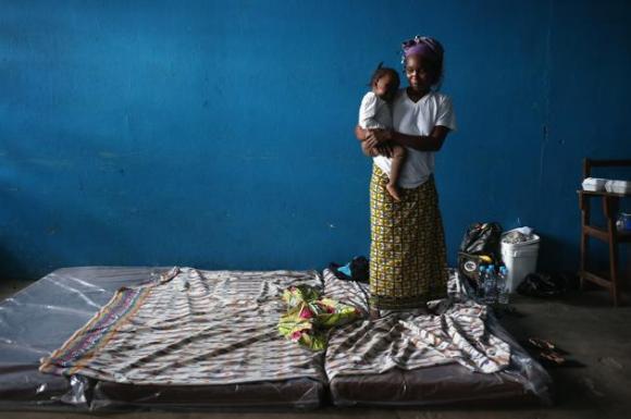Centro de aislamiento del ébola en Liberia. 8