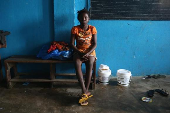 Centro de aislamiento del ébola en Liberia. 9