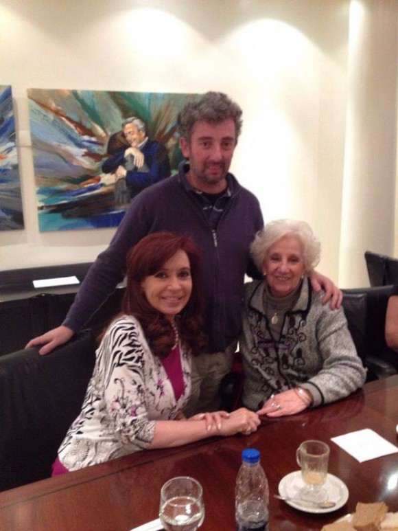 Encuentro de Cristina Fernández de Kichner con Guido, el nieto de Estela Carlotto