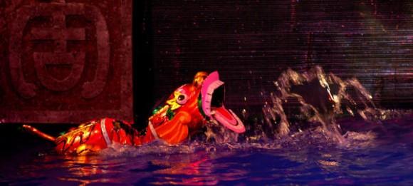 Espectáculo Estampas vietnamitas, por el Teatro de Marionetas Acuáticas de Thanglong, de Hanoi, Republica Popular de Viet Nam, en la Carpa Trompoloco, de La Habana, Cuba, el 17 de agosto de 2014. Foto: /Modesto GUTIÉRREZ CABO/ AIN