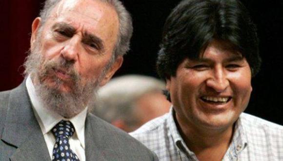 Fide y Evo Morales A