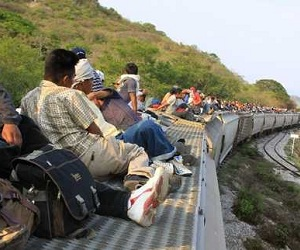 Inmigrantes en la frontera de México.
