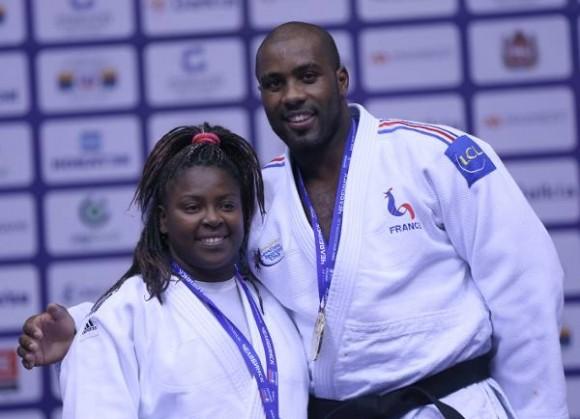 Idalis Ortiz (Cuba) y Teddy Rinner (Francia) fueron seleccionados los Más Destacados del Mundial de Judo celebrado en rusia. 30 de septiembre de 2014.