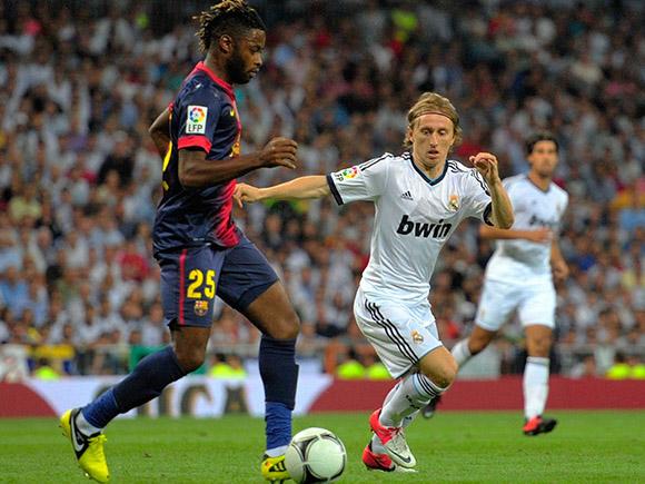 Luka Modric, que llegó procedente del Tottenham, extendió su contrato con el club blanco hasta 2018. Foto: EFE.