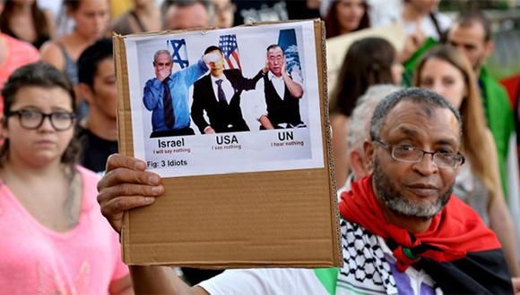 Manifestaciones contra el genocidio de Israel en Palestina. Foto: AFP
