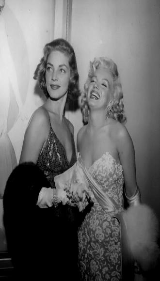 Lauren Bacall y Marilyn Monroe.