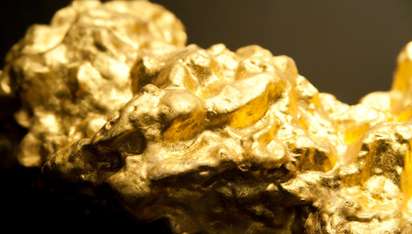 Detail of a golden Nugget
