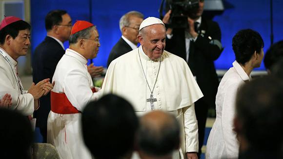 Papa Francisco en Corea del Sur. Foto: AFP (Archivo).