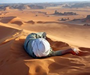Premio al Mérito Ganador: Un merecido descanso en el Sahara.