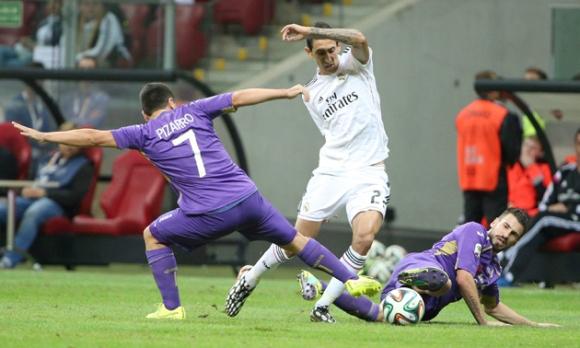 Real Madrid frente a la Fiorentina. FOTO: EFE.