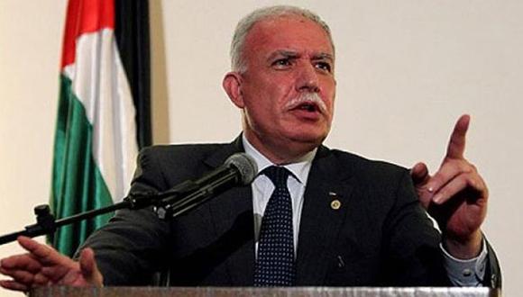 Riad Al Malki, canciller de Palestina. Foto: EFE.