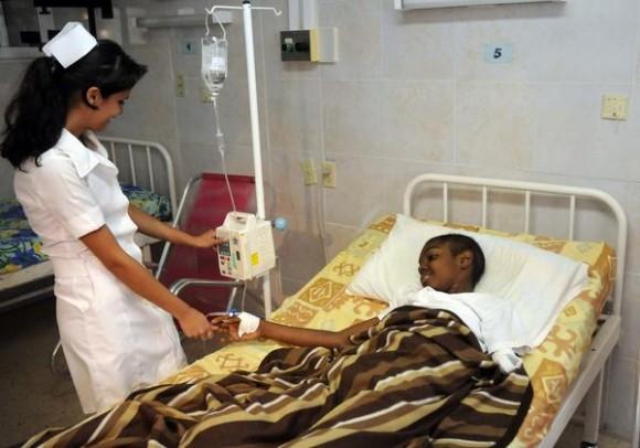 Sala de pediatría del  Instituto Nacional de Oncología y Radiología (INOR) de La Habana, Cuba, el 15 de agosto de 2014.  AIN FOTO/Abel PADRÓN PADILLA