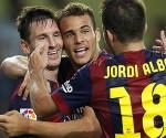 Sandro, Messi y Alba