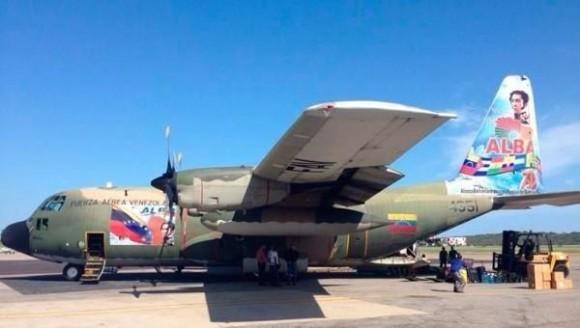 avion venezolano para gaza