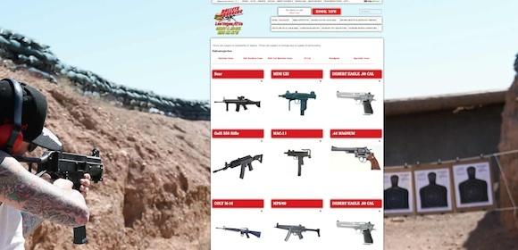 """La página de """"Balas y Hamburguesas"""", que promueve todos los tipos de armas que se pueden utilizar legalmente en."""