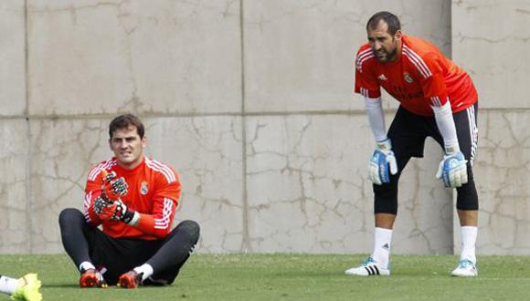 Iker Casillas y Diego López. Foto: Pepe Andrés/AS.