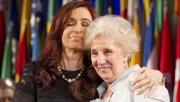 Cristina Fernandez and Estela de Carlotto.