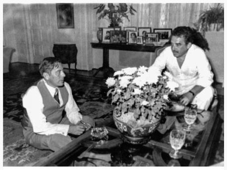 Omar Torrijos y Gabriel García Márquez, en Panamá. Foto: Archivo.