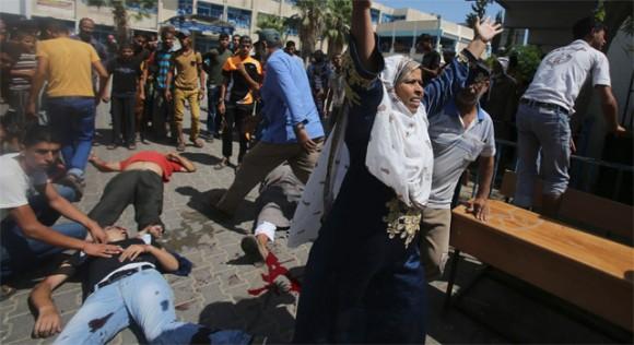 Varios heridos y fallecidos tras el último ataque de Israel a una instalación de la ONU en Gaza.- Foto: REUTERS