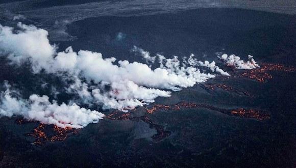 La erupción tuvo lugar en un campo de lava no cubierto por el hielo. El riesgo de una nube de cenizas es mayor en el caso de una erupción subglacial. Foto: Reuters