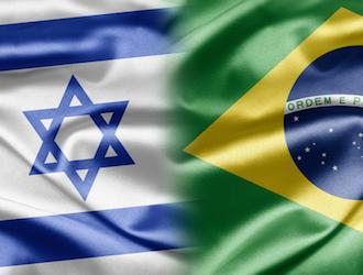 israel brasil banderas