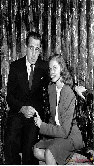 Con Humphrey Bogart.