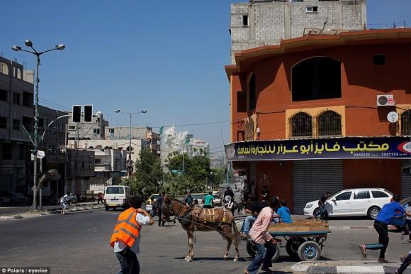 momento en que un misil impacta en gaza4