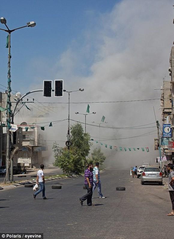 momento en que un misil impacta en gaza6