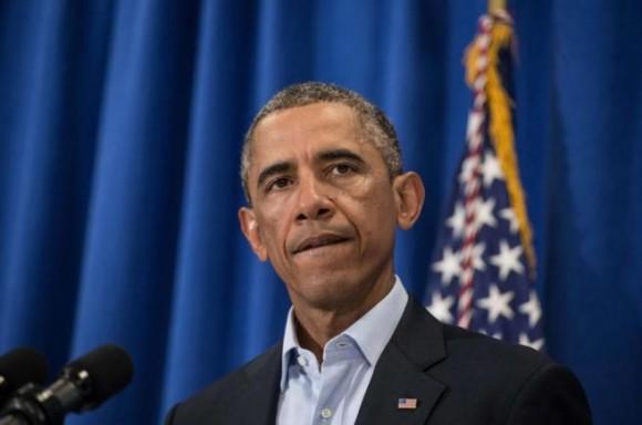 El presidente Barack Obama, durante su intervención. Foto: AFP.