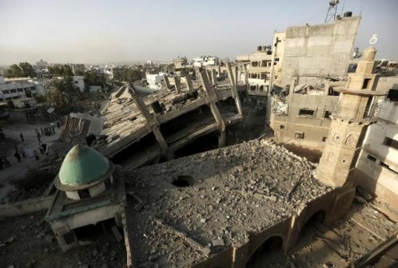 Se piensa que algunas partes se remontaban al siglo XIV. Una mezquita habría sido construida en el lugar en el siglo VII, poco después de la aparición del islam. Foto: AFP