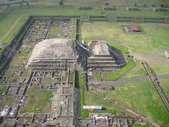 Imagen aérea de Teotihuacan. Foto: Sergio Gómez.