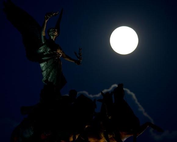 La superluna del año : Superluna en Londres.