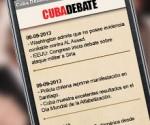 Suscríbase al servicio de titulares de Cubadebate por sms. Envie la palabra cubadebate al 8100,