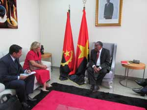 Vicecanciller cubana realiza visita de trabajo a Angola