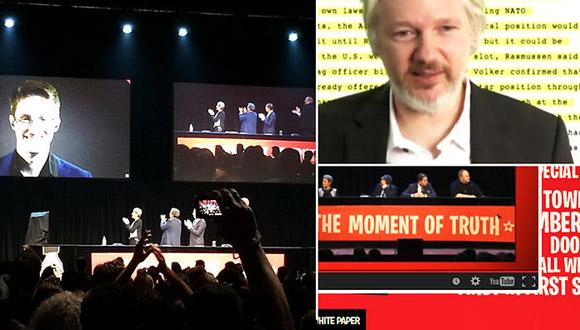 Assange Snowden Dotcom