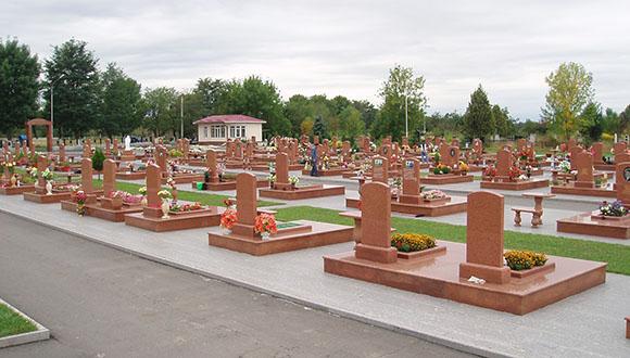 Cementerio donde enterraron a los llamados Ángeles de Beslán. Foto: EFE.